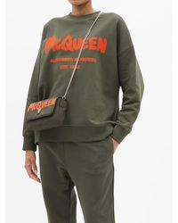 Alexander McQueen ロゴ コットンスウェットシャツ - グリーン