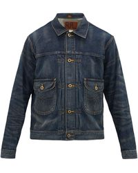 RRL Cowboy Patch-pocket Denim Jacket - Blue