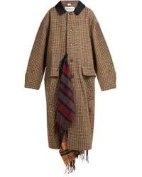 Vetements - Oversized Houndstooth Wool Coat - Lyst