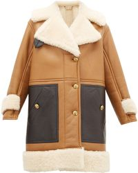 Givenchy Shearling Leather-panelled Coat - Multicolor