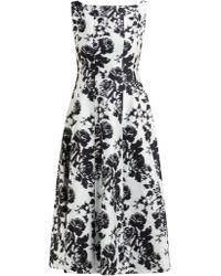 Erdem - Kinsey Rosechine Jacquard Cotton Blend Midi Dress - Lyst