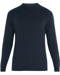 CONNOLLY - Clarke Crew-neck Cable-knit Cashmere Jumper - Lyst