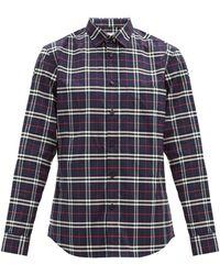 Burberry - シンプソン チェック ストレッチコットンシャツ - Lyst