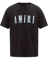 Amiri ペイズリー ロゴ Tシャツ - ブラック