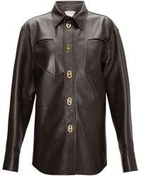 Bottega Veneta - カットアウト レザーシャツ - Lyst