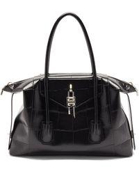 Givenchy アンティゴナ ロック ミディアム レザーバッグ - ブラック