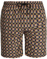 Burberry - Archive Logo And Vintage Check-print Swim Shorts - Lyst