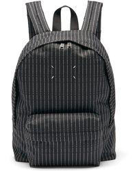Maison Margiela ロゴジャカード キャンバス バックパック - ブラック