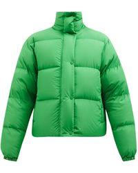 Richard Quinn Logo-embroidered Reversible Down Jacket - Green