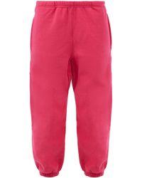 Raey Pantalon de jogging en jersey de coton recyclé - Rose
