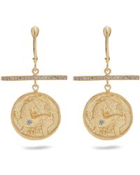 Azlee - Animal Kingdom Diamond & Yellow-gold Earrings - Lyst