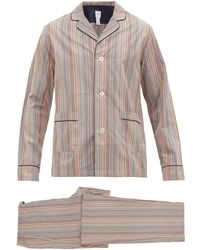 Paul Smith Signature-striped Cotton-poplin Pyjamas - Multicolour