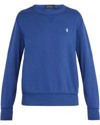 Polo Ralph Lauren - Logo Embroidered Cotton Jersey Sweatshirt - Lyst