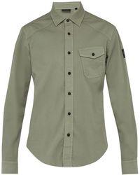 73091411f0 Belstaff - Steadway Stretch Cotton Twill Shirt - Lyst