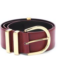 Khaite Bella 18kt Gold-plated Buckle Leather Belt - Multicolor