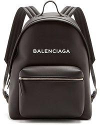 Balenciaga - Everyday Logo Print Leather Backpack - Lyst