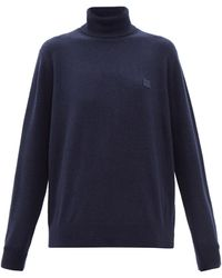 Acne Studios カートル タートルネック ウールセーター - ブルー