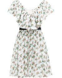 Emilia Wickstead ジュニパー フローラル コットンボイルドレス - マルチカラー