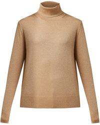 JOSEPH - Roll Neck Metallic Wool Blend Sweater - Lyst