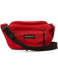 Balenciaga - Logo Appliqué Nylon Belt Bag - Lyst