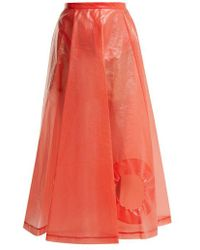 Toga - Laminate Cut-out Skirt - Lyst