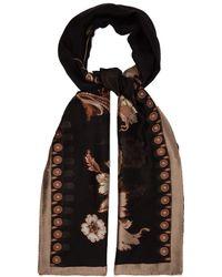 Etro Floral Jacquard Silk Blend Scarf - Black