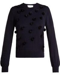 Comme des Garçons - Wool Pom-pom Appliqué Crew-neck Sweatshirt - Lyst