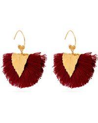 Elise Tsikis - Agia Tassel-embellished Earrings - Lyst