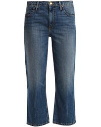 The Great - The Relaxed Nerd Mid Rise Kick Flare Jeans - Lyst