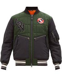 Burberry Wool Logo Bomber Jacket - Green