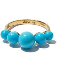 Irene Neuwirth Bague en or 18 carats et turquoise - Bleu