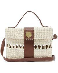 Sensi Studio X Loulou De Saison Straw Cross-body Bag - Natural