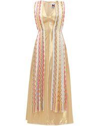 M Missoni ヴィンテージスカーフ シルクブレンドラメ ドレス - マルチカラー