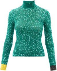 Loewe スパンコール ハイネックセーター - グリーン