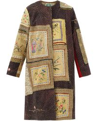 By Walid Tanita Floral-embroidered Silk Coat - Multicolor