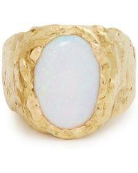 Orit Elhanati Signetura Opal & Yellow Gold Ring - Metallic