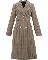 Stella McCartney Pow Double-breasted Checked Wool Coat - Black