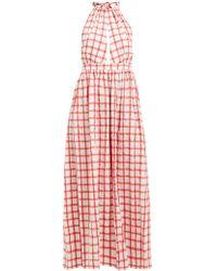 4be5e3bce60 Mara Hoffman - Linny Checked Halterneck Cotton Dress - Lyst