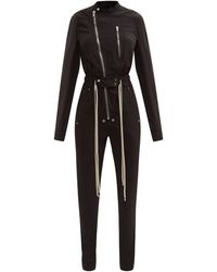Rick Owens ゲイリー ファスナー ジャンプスーツ - ブラック