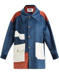 MM6 by Maison Martin Margiela - Cotton Blend Corduroy Coat - Lyst