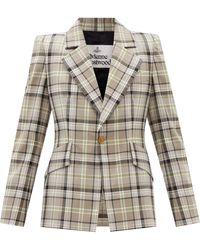 Vivienne Westwood ルル タータンチェック ウールスーツジャケット - ナチュラル