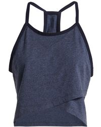 LNDR - Cheer Crossover Cotton Cropped Top - Lyst