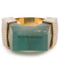 Jade Jagger - - Diamond, Emerald & Yellow Gold Ring - Womens - Green - Lyst