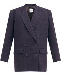 Isabel Marant オラディム チェック スーツジャケット - ブルー