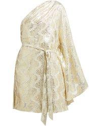 Melissa Odabash - Look 13 Metallic Mini One Shoulder Dress - Lyst