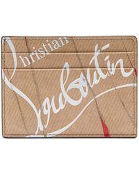 Christian Louboutin Kraft Kios スムースレザー カードケース - マルチカラー
