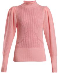FRAME - Roll-neck Wool And Cashmere Knitted Jumper - Lyst