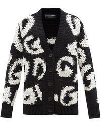Dolce & Gabbana Dg ウールカシミアカーディガン - ブラック
