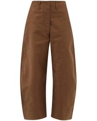 Lemaire - Cropped Cotton Chino Trousers - Lyst