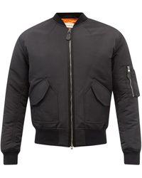 Alexander McQueen グラフィティロゴ ボンバージャケット - ブラック